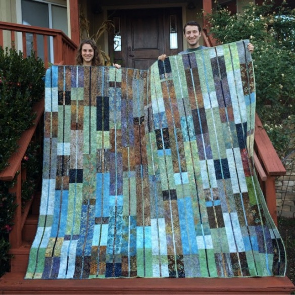 Redwood Grove by Karen Foster, Capitola Quilter. Wedding Gift.