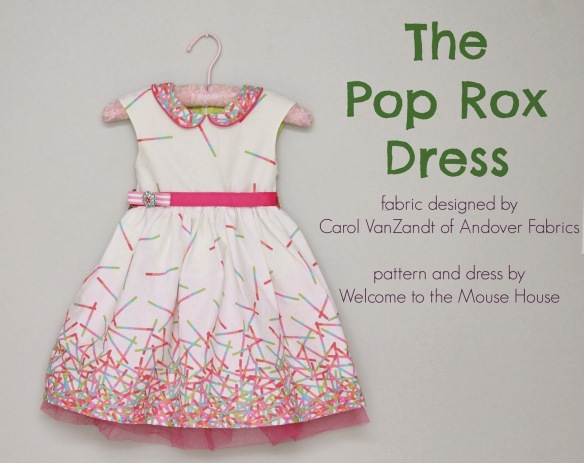 The CarolineParty Dress in Pop Rox by Welcome to the Mouse House