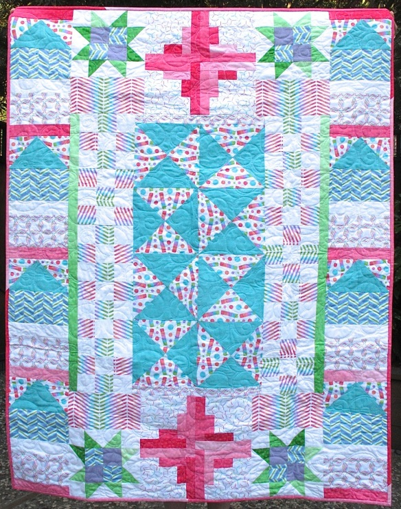Samplet quilt from Quilts! Quilts!! Quilts!!! by Diana McClun and Laura Nownes
