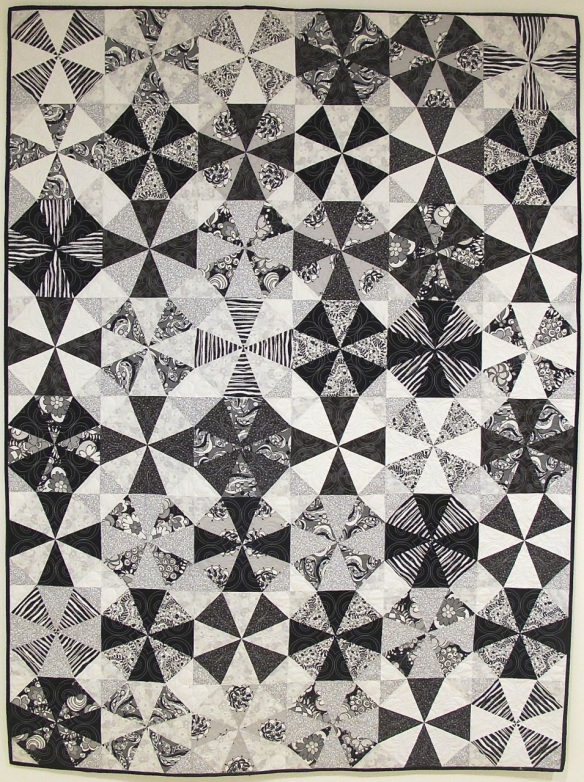 Kaleidoscope quilt by Dawn Guglielmino, quilted by Beth Hummel