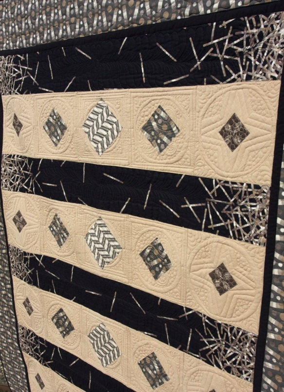 """Shattered"" by Tiffany Hayes of Needle in a Hayes Stack using Pop Rox fabric by Carol Van Zandt for Andover Fabrics, Inc."