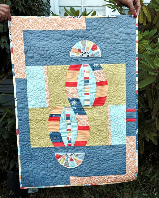 Modern Quilt Guild Michael Miller Challenge by Karen Foster, Capitola Quilter