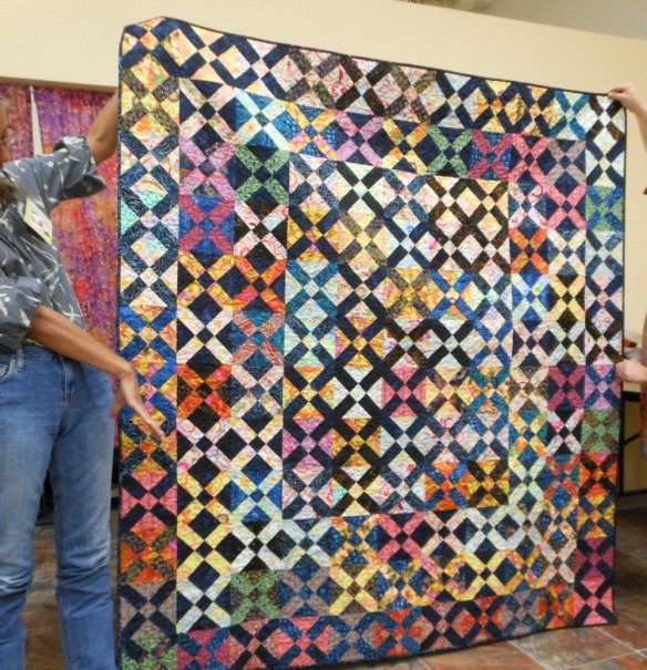 Old Italian Block Wedding Quilt by Karen Foster, Capitola Quilter