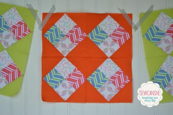 Pop Rox Quilt Block by SewCanShe