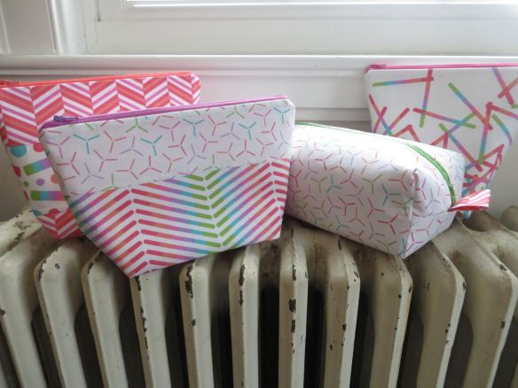 Zippy Pouches by Sew Many Creations using Pop Rox fabric