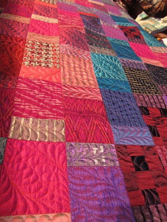 silk quilt by Diana McClun for Laura Nownes
