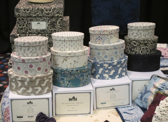 Downton Abbey nesting oval boxes and storage boxes by Quilted Koala