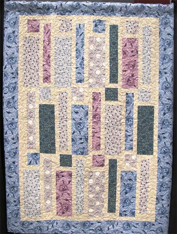 9 Easy Pieces quilt pattern by Mountainpeek Creations using Downton Abbey fabric by Kathy Hall