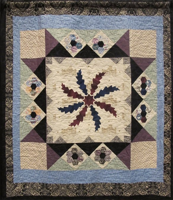 Birds of a Feather Quilt by Lucy A. Fazely using Downton Abbey by Kathy Hall