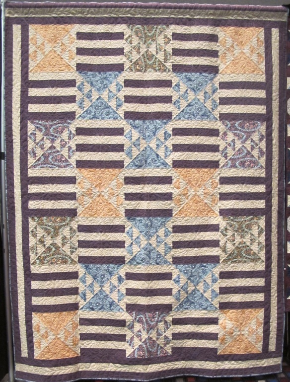 Edith's Grand Entrance Quilt pattern by Tiffany Hayes using Downton Abbey fabric by Kathy Hall