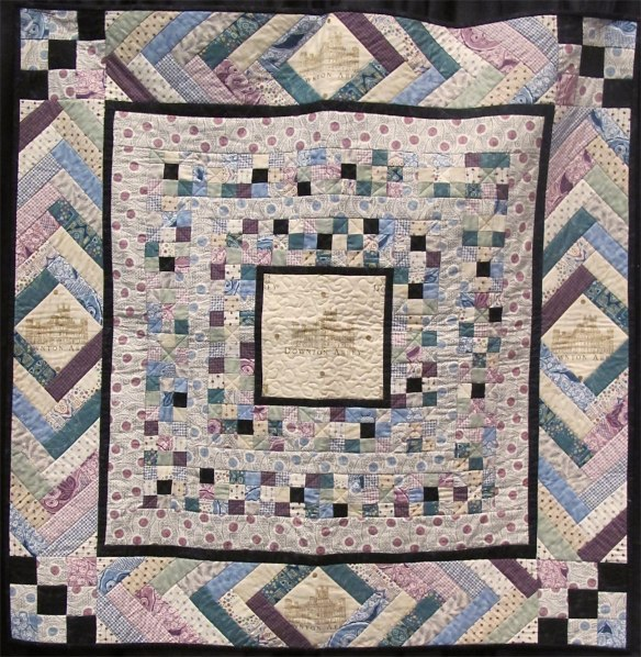 Simply Sybil Quilt using Downton Abbey by Kathy Hall