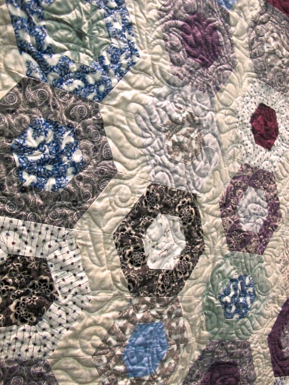 detail of Ladies of Downton Abbey quilt by Tiffany Hayes using Downton Abbey fabric by Kathy Hall