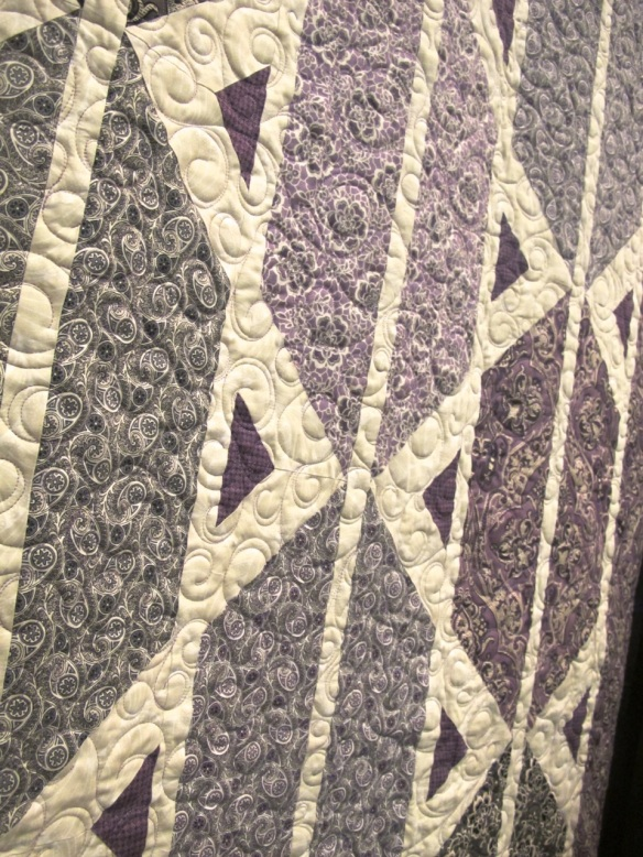 detail of Counterpoint Quilt by Mountainpeek Creations using Downton Abbey fabric by Kathy Hall