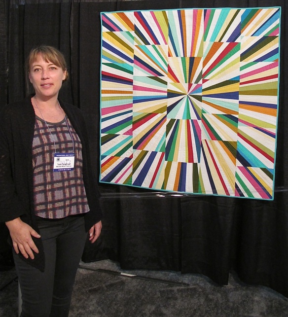 Tara Faughnan and her Fireworks Quilt
