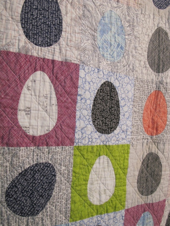 Archicoop by Jenna Brand using The Painted Pebbles Quilt by Rossie Hutchinson and Architextures fabric by Carolyn Friedlander