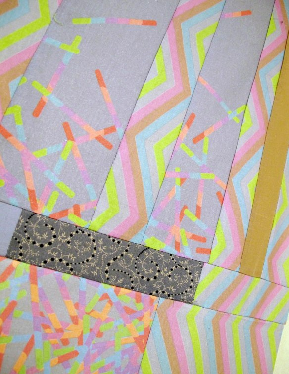 Sugar Pop quilt back detail by Carol Van Zandt