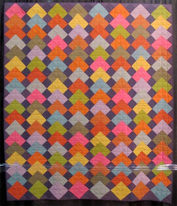 OVERLAPPING TILES, by Kaffe Fassett, Liza Prior Lucy and Rebekah Lynch, quilted by Judy Irish
