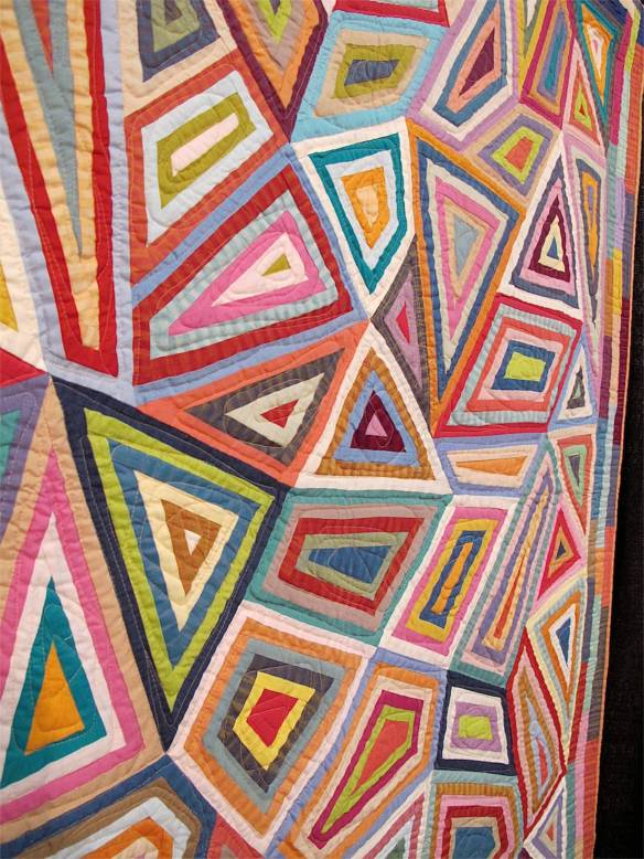 AFRICAN COLLAGE,  by Kaffe Fassett and Liza Prior Lucy, quilted by Judy Irish
