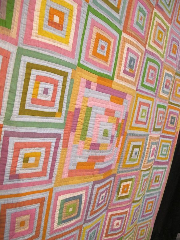 KOREAN LOG CABIN, by Kaffe Fassett and Liza Prior Lucy, quilted by Judy Irish