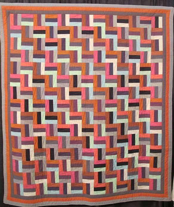 RAIL FENCE, by Kaffe Fassett and Liza Prior Lucy, quilted by Judy Irish