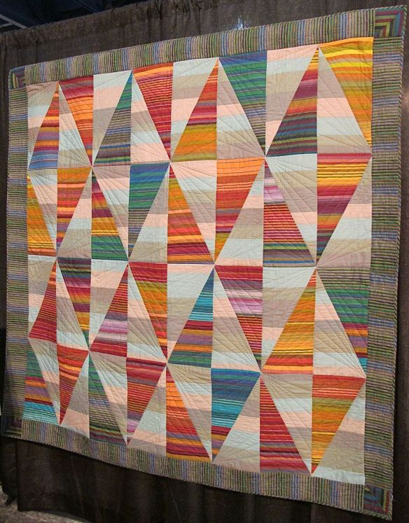 LONG DIAMONDS, by Kaffe Fassett,  Liza Prior Lucy, Sally Davis and Julie Stockler, quilted by Judy Irish