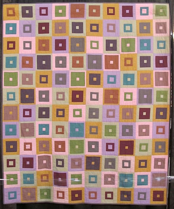 SQUARE IN A SQUARE, by Kaffe Fassett and Pauline Smith, quilted by Pauline Smith