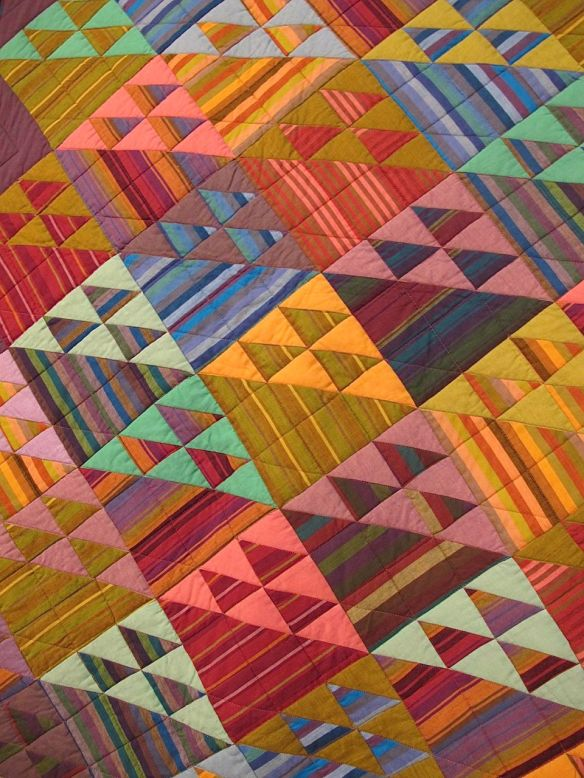 STRIPED BASKETS, by Kaffe Fassett and Liza Prior Lucy, quilted by Judy Irish