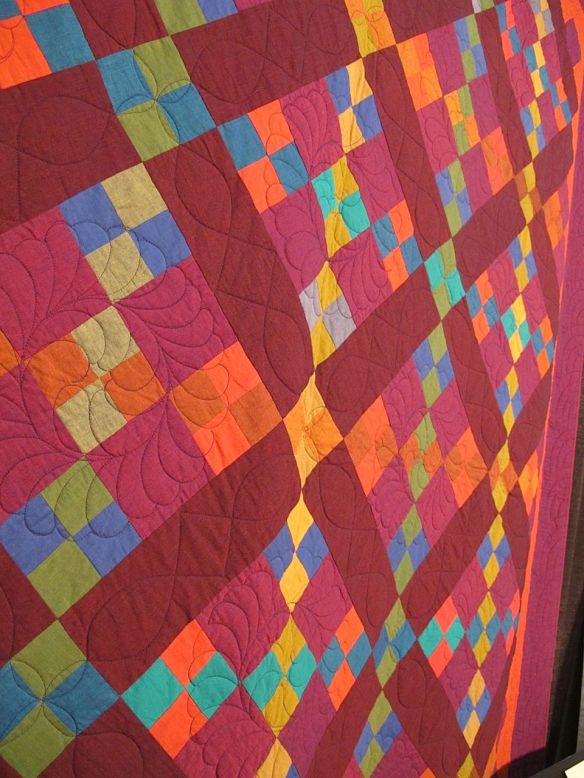 AMISH NINE PATCH, by Kaffe Fassett and Liza Prior Lucy, quilted by Donna Laing