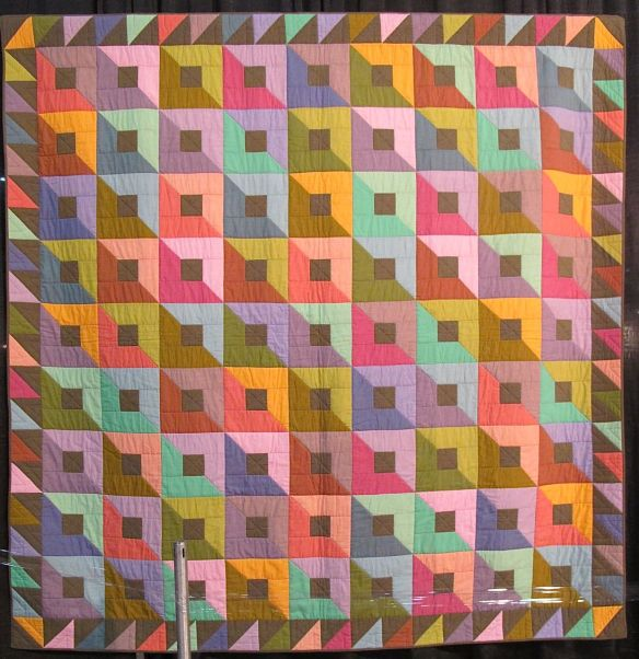 TWO TONED BOXES, by Kaffe Fassett and Liza Prior Lucy, quilted by Judy Irish