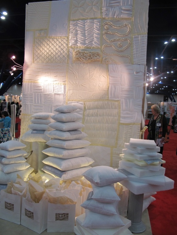 Fairfield booth at Quilt market