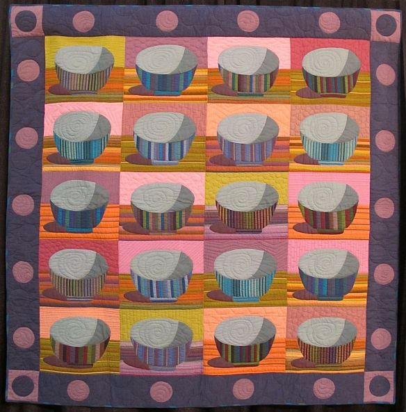 STRIPED RICE BOWLS, by Kaffe Fassett and Liza Prior Lucy, quilted by Judy Irish