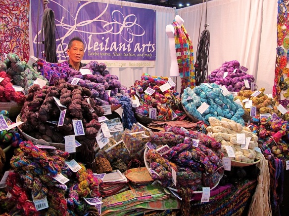 Leilani Arts, recycled silk sari yarn