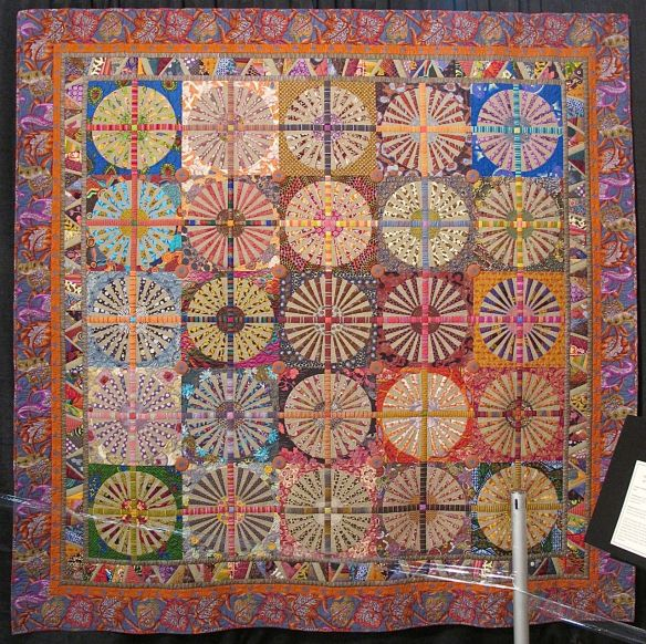 Dandelions by Kathleen McLaughlin, quilted by Debbie Loeser