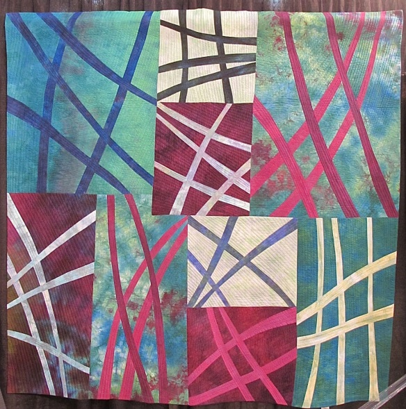 Jet Trails quilt by Marcia DeCamp