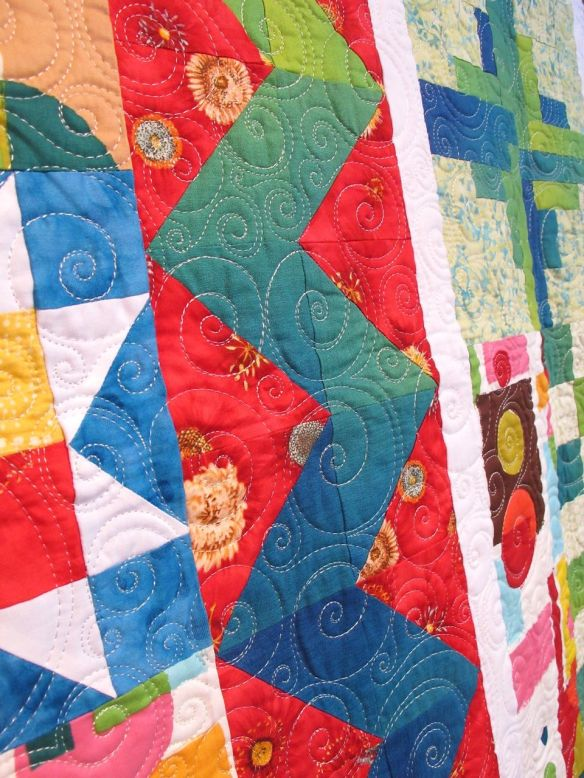 Beginning Sampler by Diana Mc Clun, quilted by Victoria McEnerney, p. 176 of Quilts! Quilts!! Quilts!!! 3rd edition