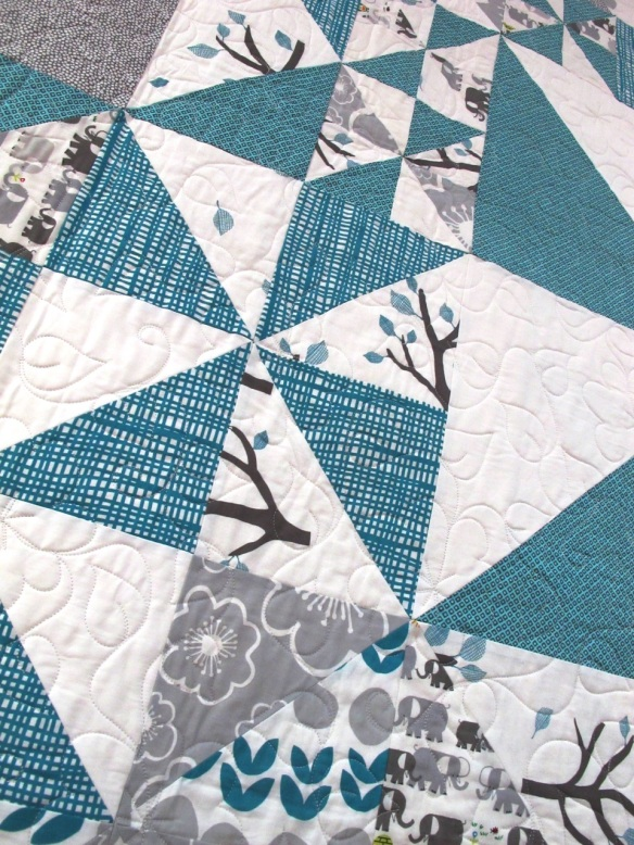 Pinwheels by Ashley Pevy, quilted by Marla Monson, p. 42 of Quilts! Quilts!! Quilts!!! 3rd edition