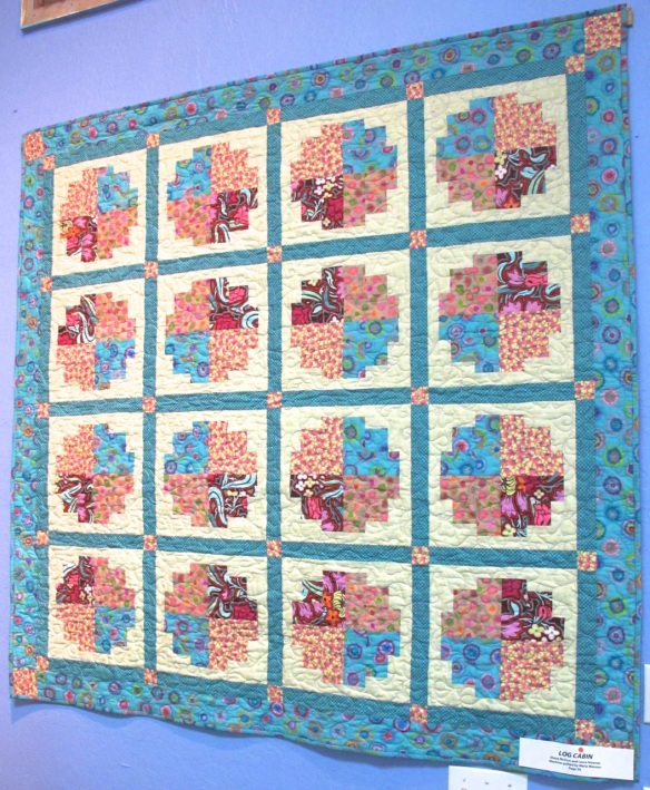 Log Cabin by Diana McClun and Laura Nownes, quilted by Marla Monson, p.34 of Quilts! Quilts!! Quilts!!! 3rd edition