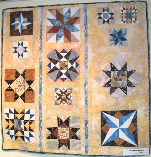 All Stars Sampler by Diana McClun and Laura Nownes, quilted by Victoria McEnerney, p. 75 of Quilts! Quilts!! Quilts!!! 3rd edition