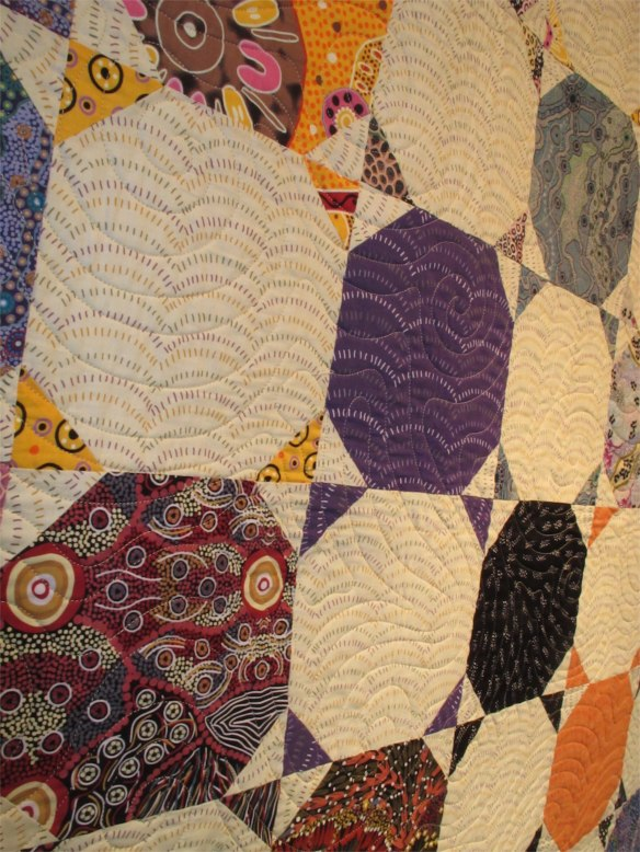 Snowball, by Diana McCLun and Laura Nownes, quilted by Victoria McEnerney p. 48 of Quilts! Quilts!! Quilts!!! 3rd edition