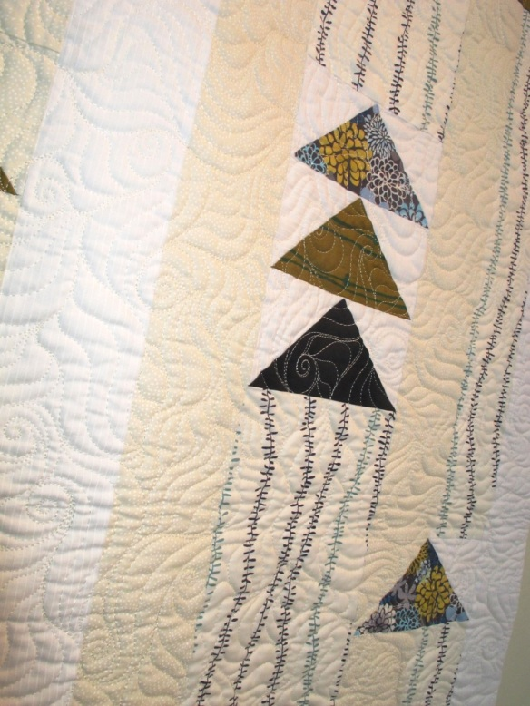 Flying Geese by Dale Fleming, quilted by Victoria McEnerney, p. 45 of Quilts! Quilts!! Quilts!!! 3rd edition