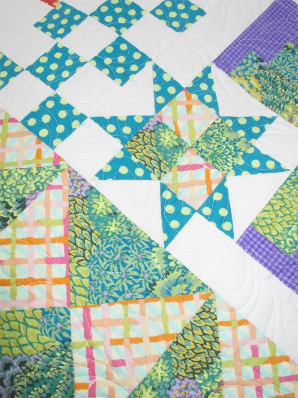 Beginning Sampler by Laura Nownes, quilted by Marla Monson, p. 178 of Quilts! Quilts!! Quilts!!! 3rd edition