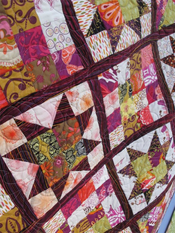 Sawtooth Star by Pauline Stone Pearsall, quilted by Kerry Reed, p. 56 of Quilts! Quilts!! Quilts!!! 3rd edition