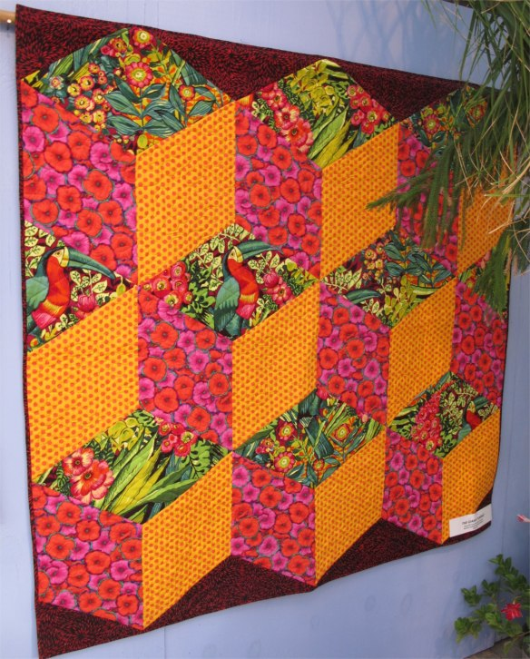 The Giant Tumble by Diana McClun and Laura Nownes, quilted by Marla Monson