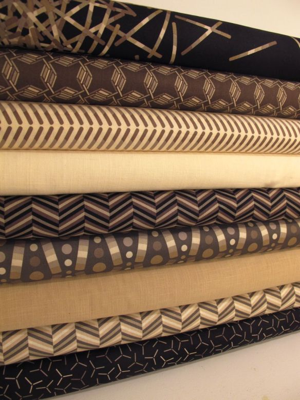 "Pop Rox ""choco"" by CAROL VAN ZANDT LLC for Andover Fabrics Inc."