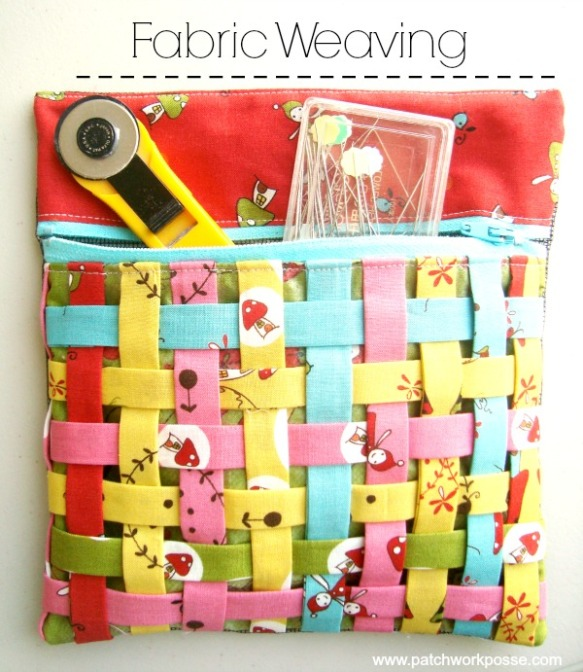 Fabric Weaving tutorial by Patchwork Posse