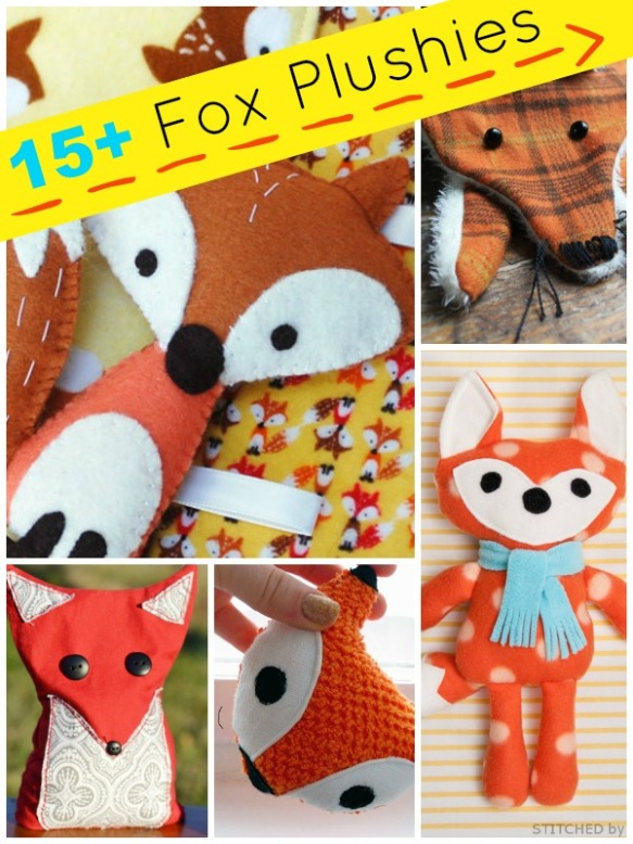15+ Fox Plushies by PlushiePatterns.com