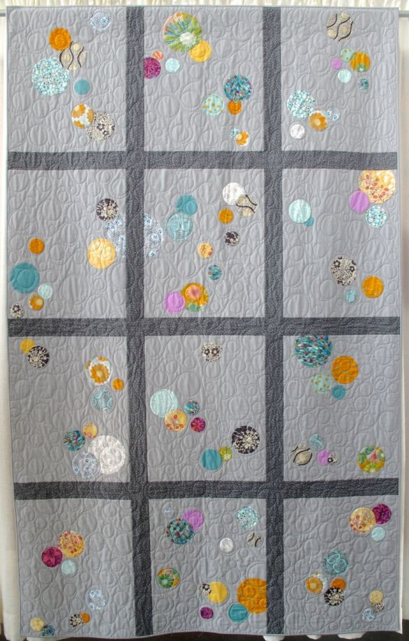 My Traveling Quilt by Leah Brown. Quilted by Kathy Ritter.