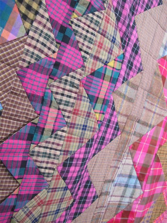 Plaid One by Eleanor Dugan. Quilted by Dani Lawler.