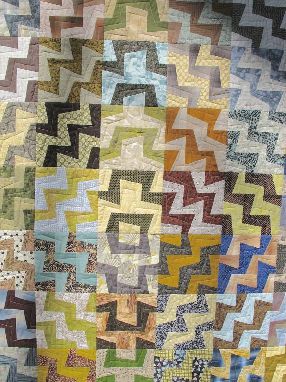 Not Entirely My Fault by Rebecca Rohrkaste. Quilt pattern by Kathy Doughty.