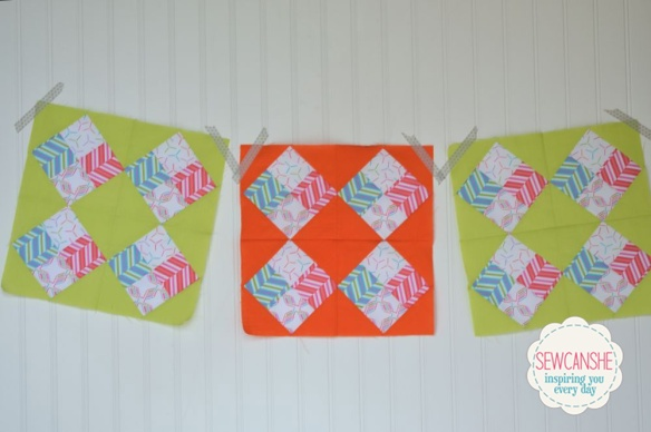 Pop Rox Quilt Block tutorial by Sew Can She